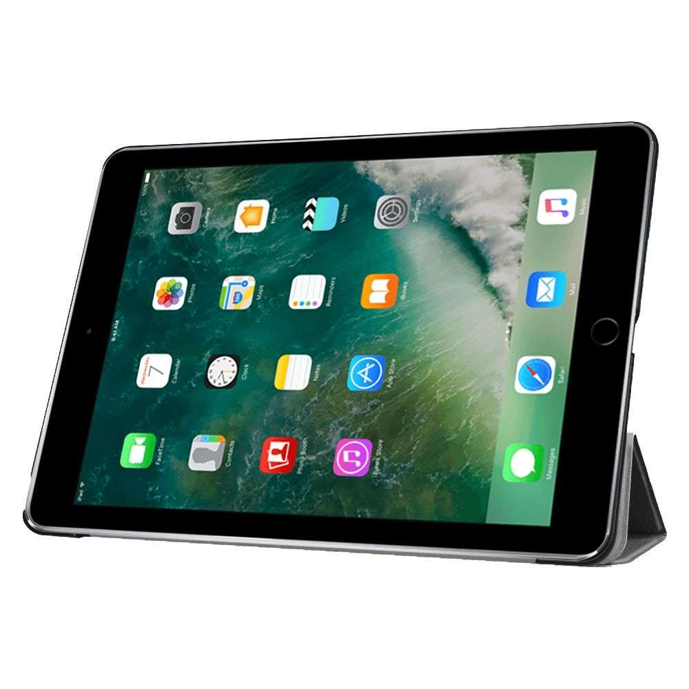Apple iPad 9.7 (2017 / 2018) Smart Tri-Fold Case - Zwart