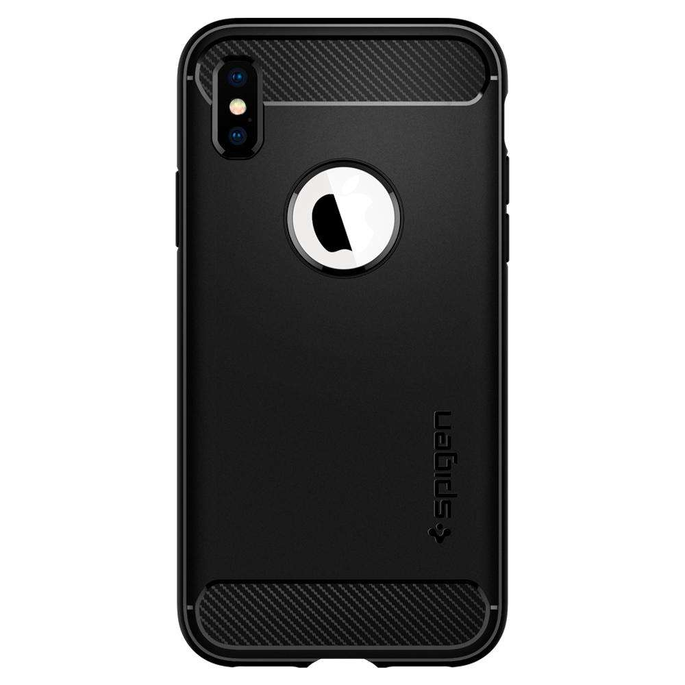 Apple iPhone XS Hoesje Spigen Rugged Armor Zwart
