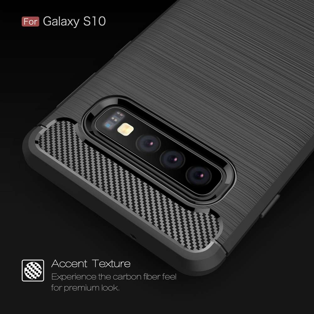 Samsung Galaxy S10 Rugged TPU Case - Zwart