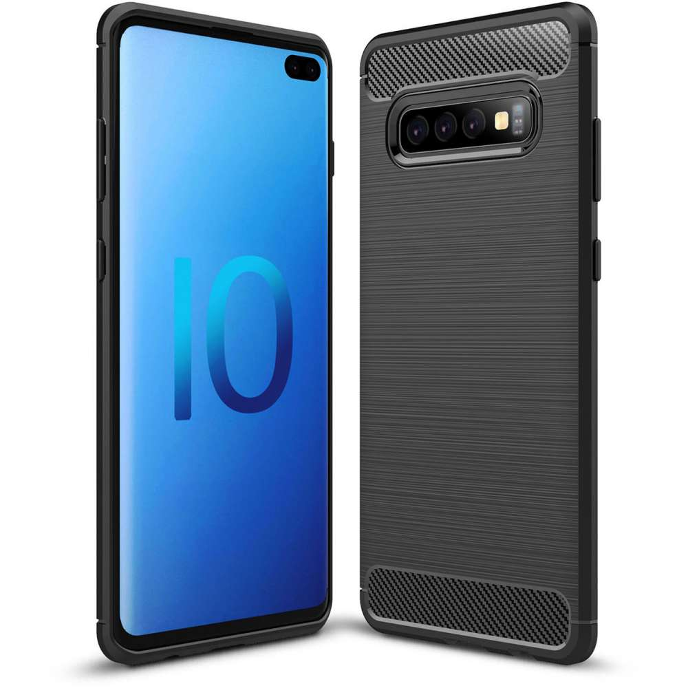 Samsung Galaxy S10 Plus Rugged TPU Case - Zwart