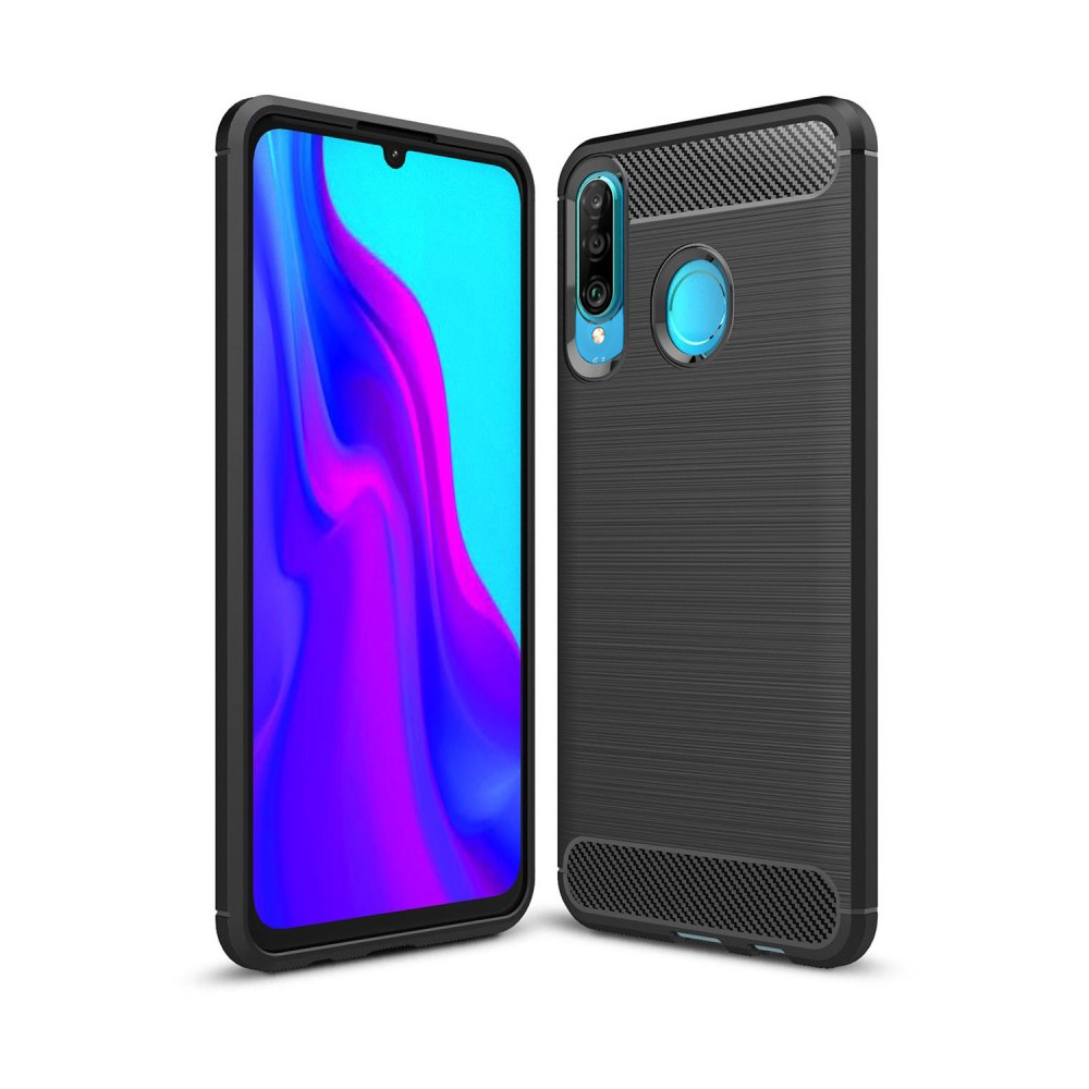 Huawei P30 Lite Rugged TPU Case - Zwart