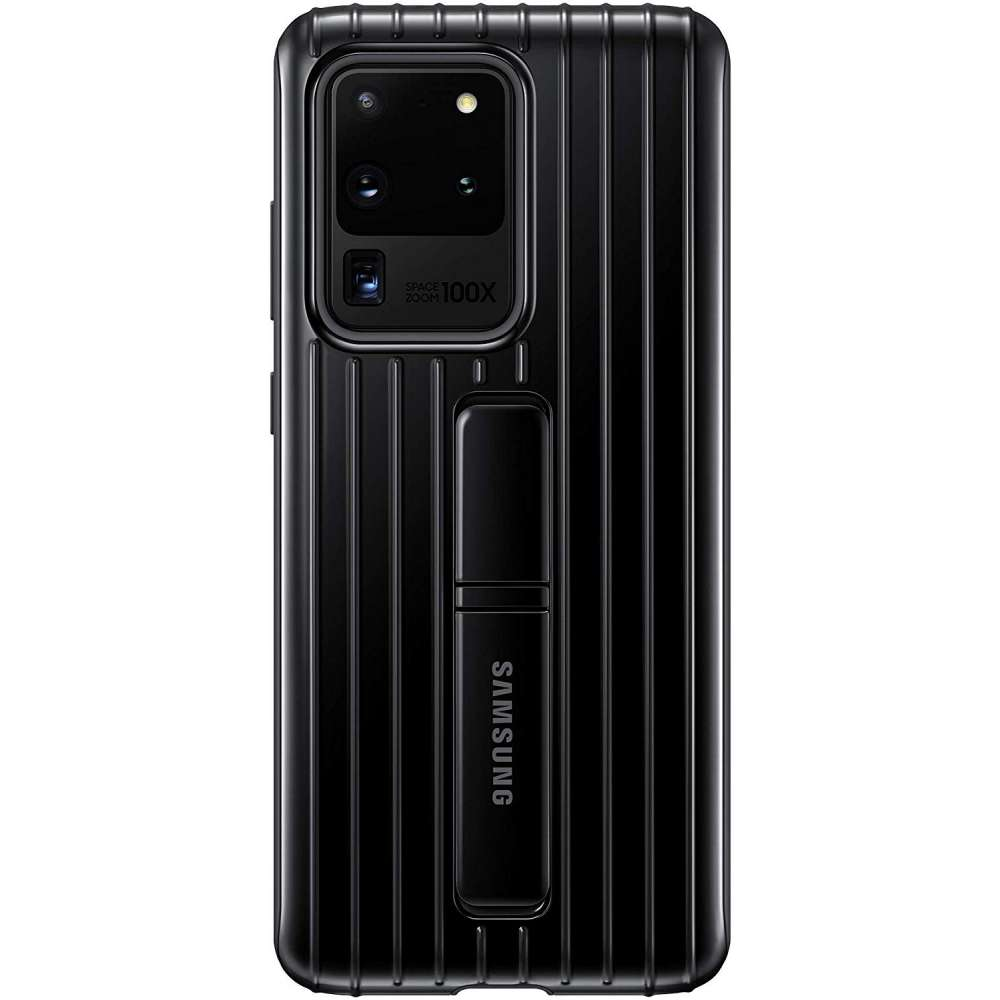 Samsung Galaxy S20 Ultra Protective Standing Cover Zwart
