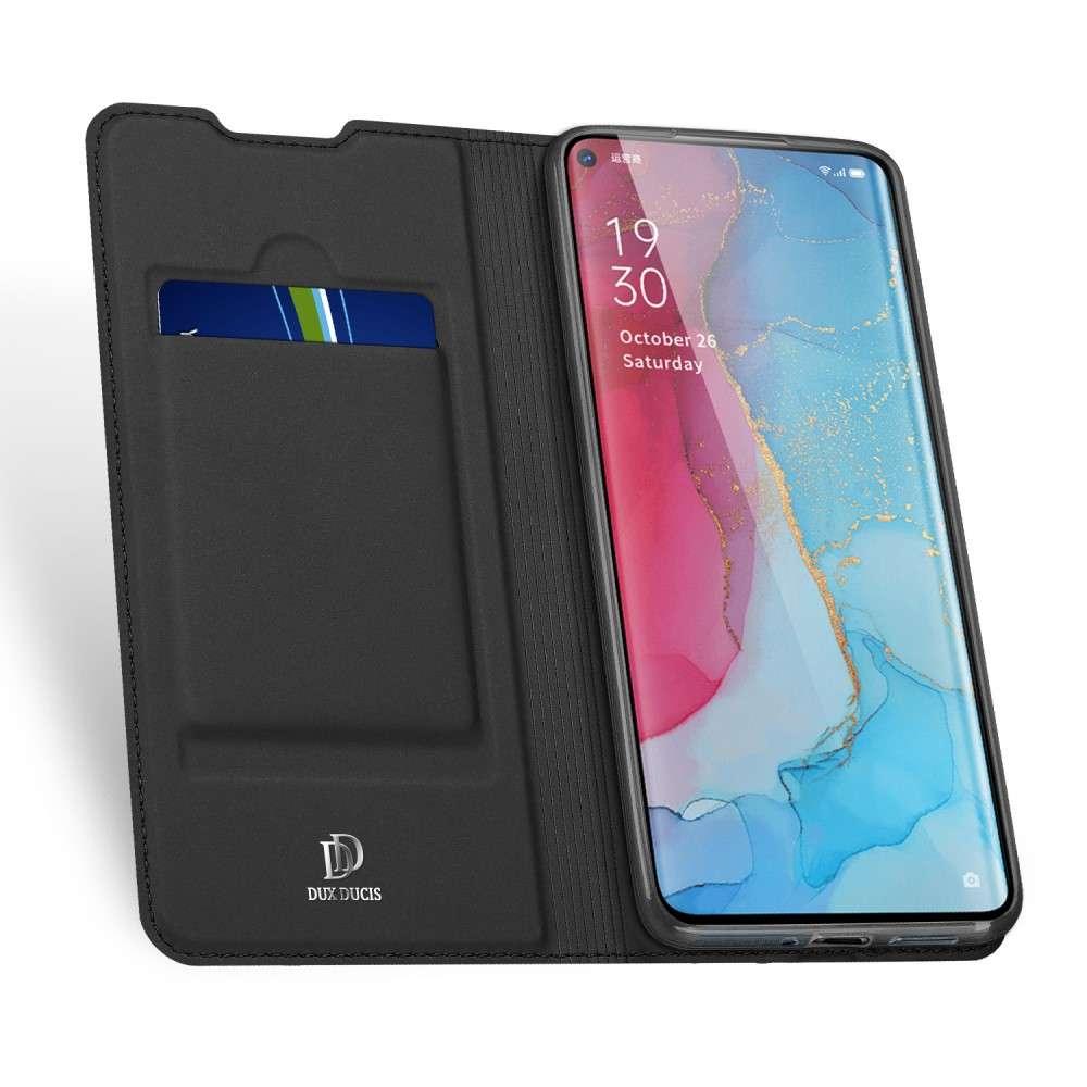 DUX DUCIS Oppo Find X2 Neo / Oppo Reno 3 Pro 5G TPU Wallet Case - Zwart
