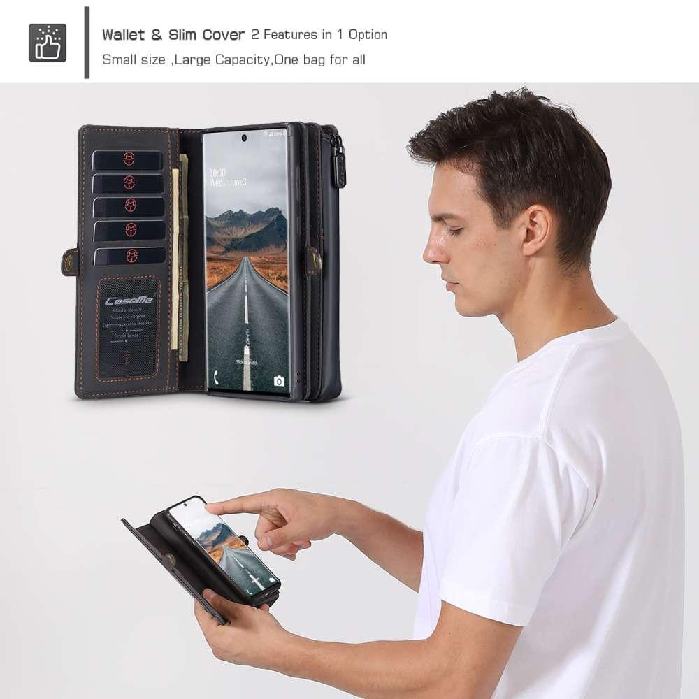 CASEME Samsung Galaxy Note 20 Ultra Luxe Multi Portemonnee Hoesje Zwart