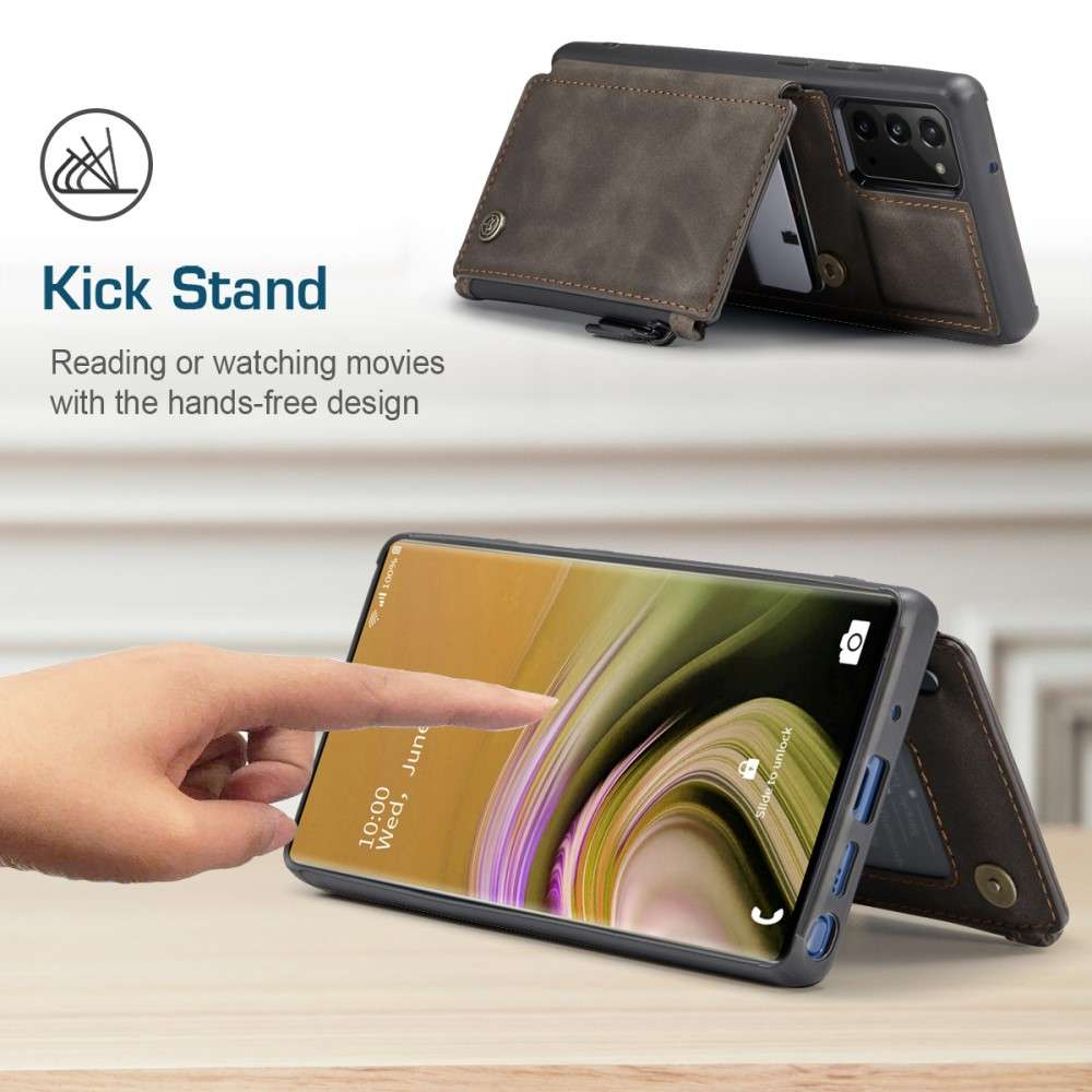 CASEME Samsung Galaxy Note 20 Back Cover Wallet Case - Coffee