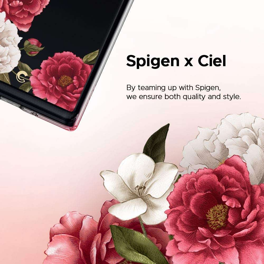 Spigen Cyrill Cecile Samsung Galaxy Note 10 Plus hoesje - Red Floral