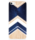 iPhone 5/5S/SE Hoesje Space wood