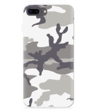 iPhone 8 Plus Hoesje Army Camouflage Grey