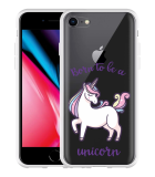 iPhone 8 Hoesje Born to be a Unicorn