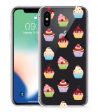 Apple iPhone X Hoesje Cupcakes