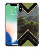 Apple iPhone X Hoesje Forest wood