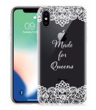 Apple iPhone X Hoesje Made for queens