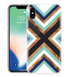 Apple iPhone X Hoesje Wood Art