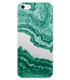 iPhone 5/5S/SE Hoesje Turquoise Marble Art