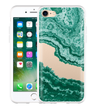 iPhone 7 Hoesje Turquoise Marble Art