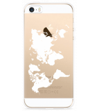 iPhone 5/5S/SE Hoesje World Map