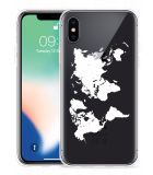 Apple iPhone X Hoesje World Map