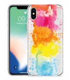 Apple iPhone X Hoesje Color Splatters