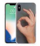Apple iPhone X Hoesje Circle Hand Game
