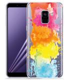 Samsung Galaxy A8 2018 Hoesje Color Splatters