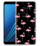 Samsung Galaxy A8 2018 Hoesje Flamingo
