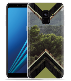 Samsung Galaxy A8 2018 Hoesje Forest wood