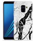 Samsung Galaxy A8 2018 Hoesje Marmer Design