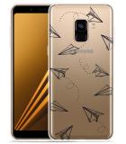 Samsung Galaxy A8 2018 Hoesje Paper Planes