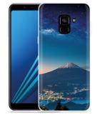 Samsung Galaxy A8 2018 Hoesje Sky Rocks