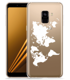 Samsung Galaxy A8 2018 Hoesje World Map