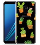 Samsung Galaxy A8 2018 Hoesje Happy Cactus