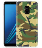 Samsung Galaxy A8 2018 Hoesje Army Camouflage Green