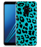 Samsung Galaxy A8 2018 Hoesje Luipaard Groen Zwart