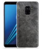Samsung Galaxy A8 2018 Hoesje metaal structuur