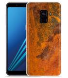 Samsung Galaxy A8 2018 Hoesje roestig metaal