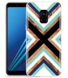 Samsung Galaxy A8 2018 Hoesje Wood Art
