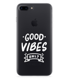 iPhone 7 Plus Hoesje Good Vibes wit