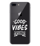 iPhone 8 Plus Hoesje Good Vibes wit