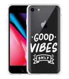 iPhone 8 Hoesje Good Vibes wit
