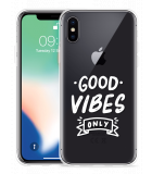 Apple iPhone X Hoesje Good Vibes wit