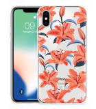 Apple iPhone X Hoesje Flowers