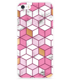 iPhone 5/5S/SE Hoesje Pink-gold-white Marble