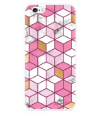 iPhone 6/6S Hoesje Pink-gold-white Marble