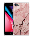 iPhone 8 Hoesje Pink Marble