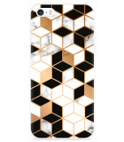iPhone 5/5S/SE Hoesje Black-white-gold Marble