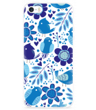 iPhone 5/5S/SE Hoesje Blue Bird and Flowers