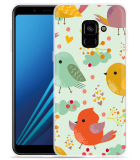 Samsung Galaxy A8 2018 Hoesje Cute Birds