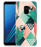 Samsung Galaxy A8 2018 Hoesje Exotic Trendy Parrots