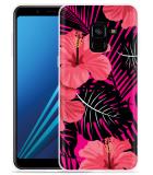 Samsung Galaxy A8 2018 Hoesje Tropical Flowers