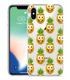 Apple iPhone X Hoesje Happy Ananas